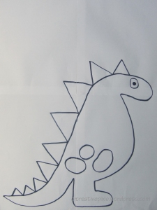 creative pixie dinosaur template web