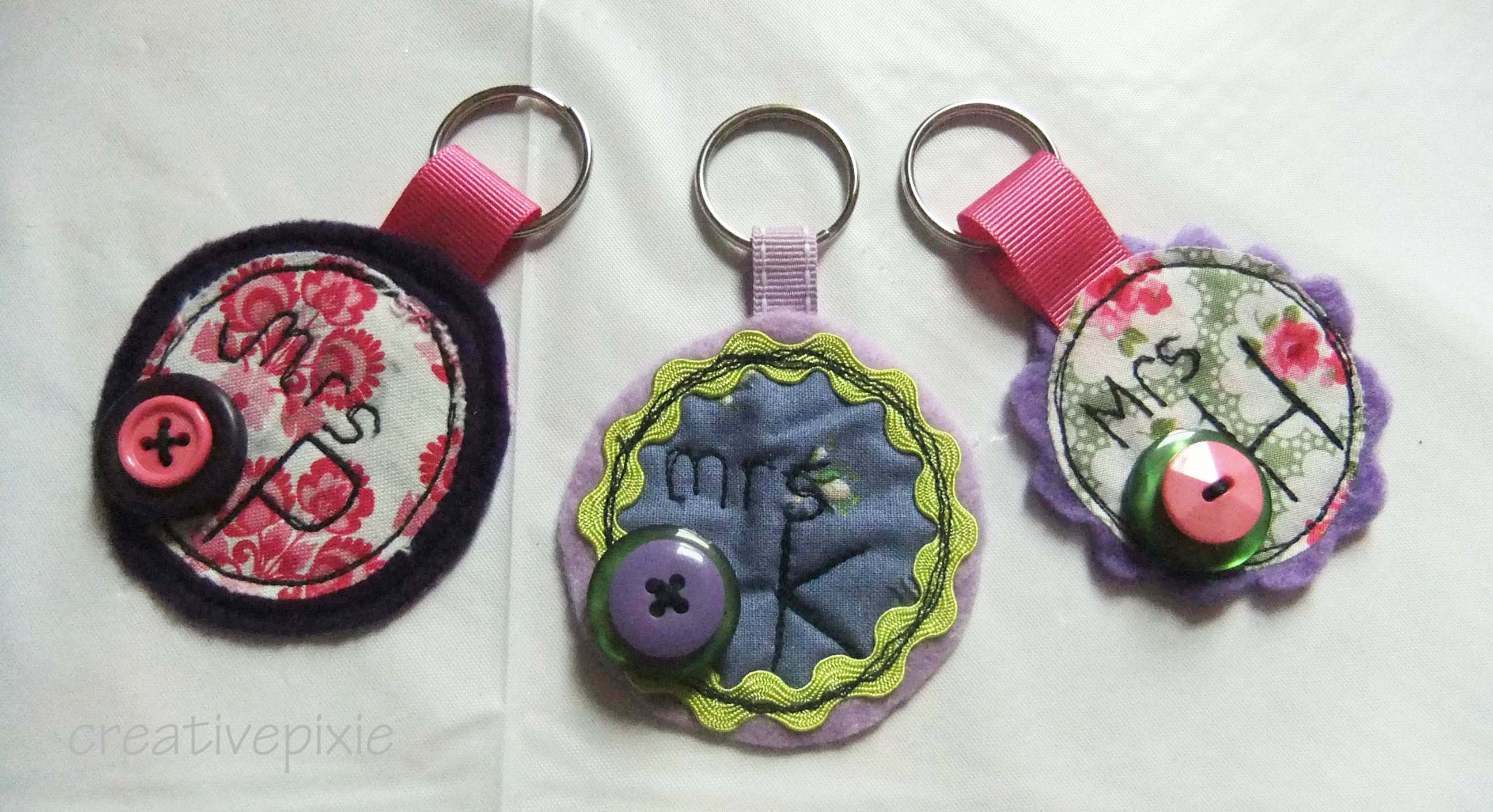 A teacher gift – personalised felt   fabric keyring tutorial – The ... 69b81c380062