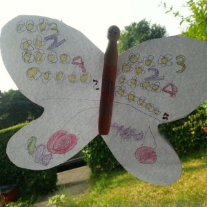 paper butterfly P finished