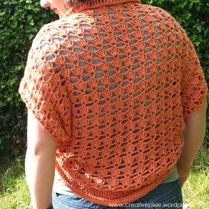 creative pixie shrug back view
