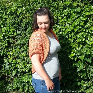 creative pixie shrug front view