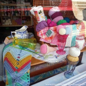 The Textile Studio window