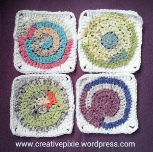 crochet circles in a square