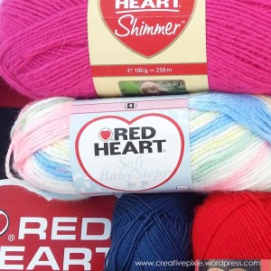 Red Heart Baby Steps yarn