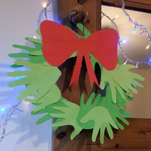 Christmas hand wreath