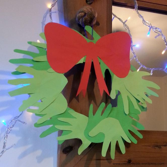 Christmas hand wreath