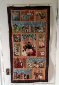 Completed Christmas wall hanging