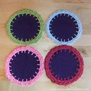 creative pixie crochet coasters