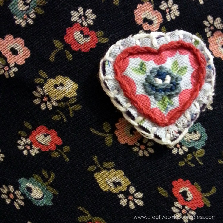 creative pixie MIM brooch worn