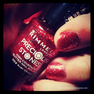 creative pixie Ruby nail polish