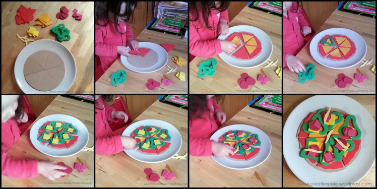 creative pixie MIM foam pizza Miss E collage photo
