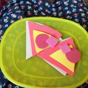 creative pixie MIM foam pizza slice