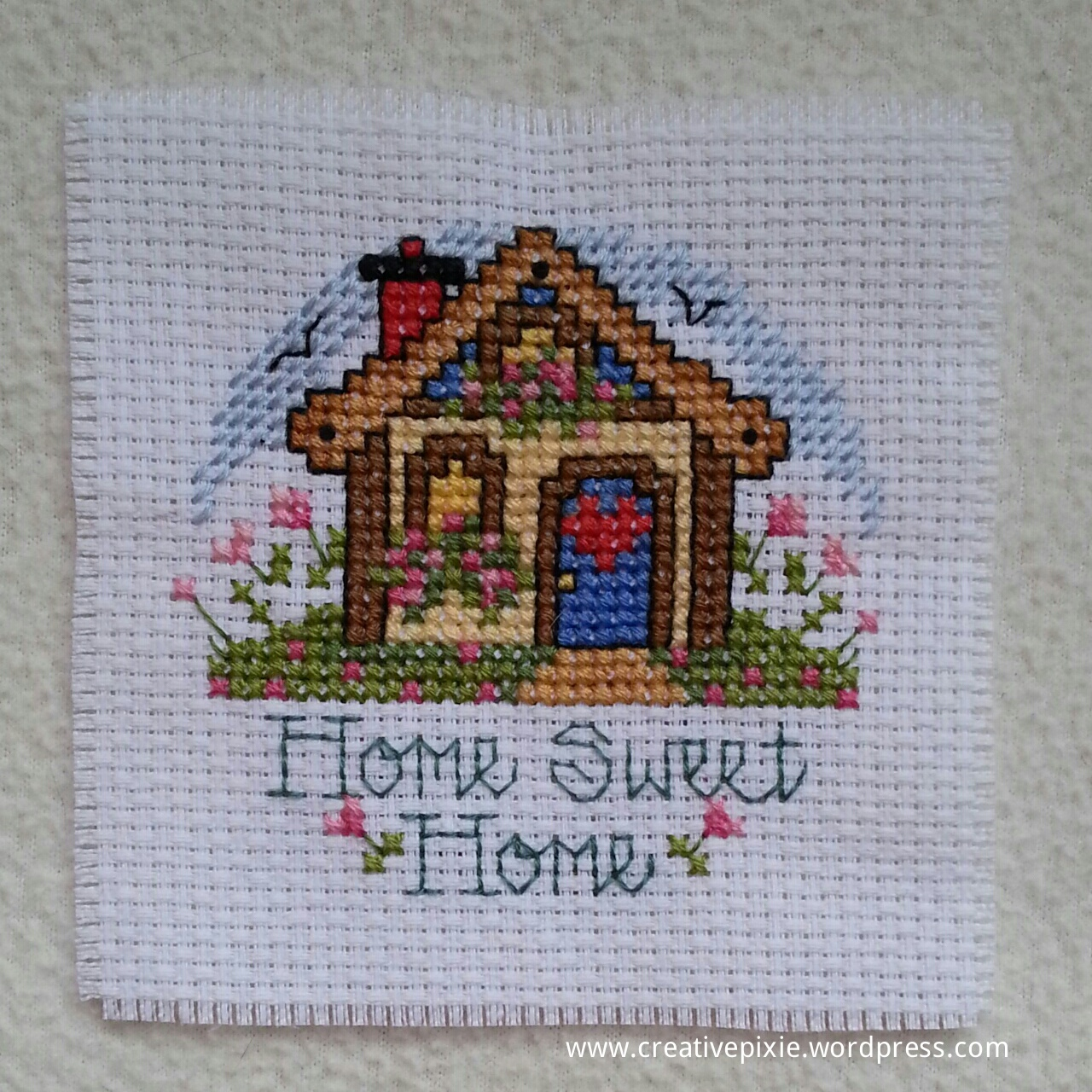 Make it monday cross stitch coaster - Home sweet home designs ...
