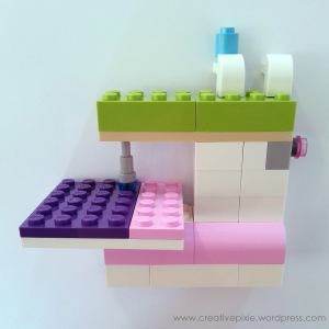 Creative pixie lego sewing machine finished