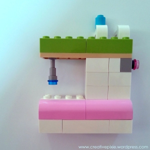 Creative pixie lego sewing machine portrait2