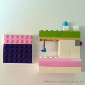 Creative pixie lego sewing machine ready to sew