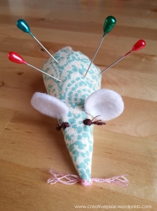 Creative pixie  MIM finished mouse pin cushion