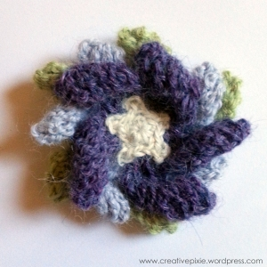 finished flower brooch creative pixie MIM