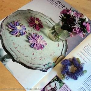 finished flower broochand magazine creative pixie MIM