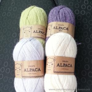 yarns for flower brooch creative pixie MIM