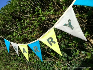 creative pixie MIM bunting up an angle