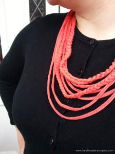 Creative Pixie t shirt yarn necklace