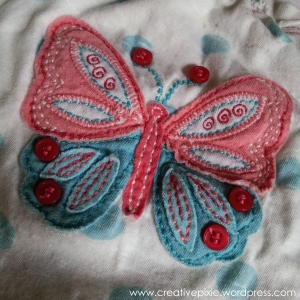 MIM creative pixie old Tshirt close up