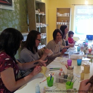 bloggers at pottery yarn