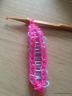 MIM creative pixie railroad loom band bracelet in progress