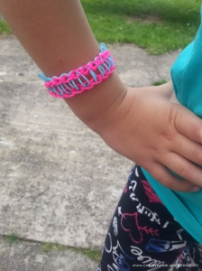 MIM creative pixie railroad loom band bracelet on Miss P