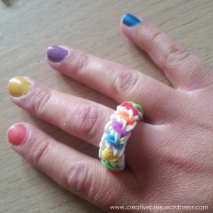 MIM creative pixie skittlz loom band ring