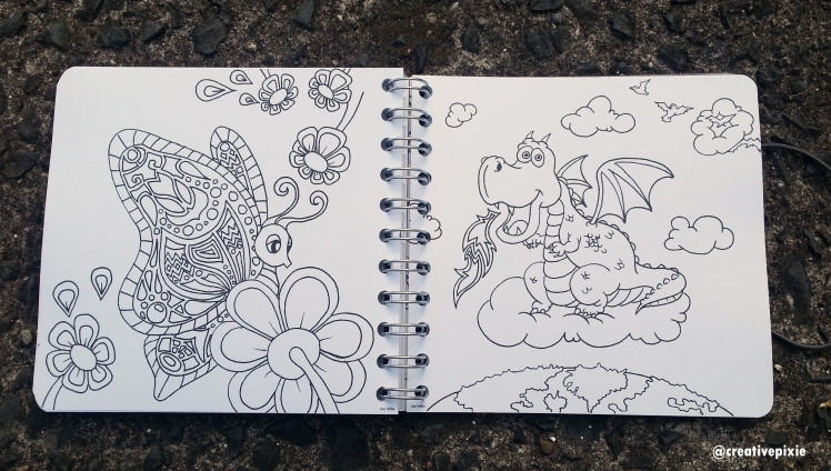 Creative Pixie Personal Planner colouring pages