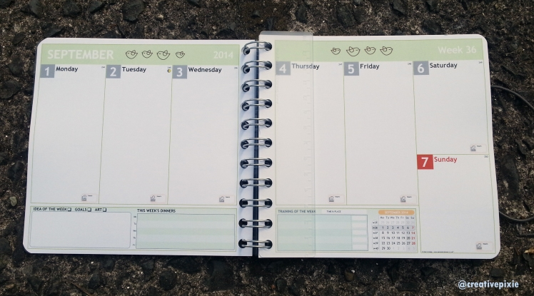 Creative Pixie Personal Planner inside layout
