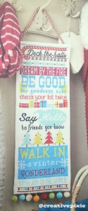 MIM Christmas cross stitch hanging