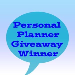 Personal Planner Giveaway winner