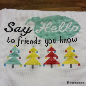 Christmas cross stitch update