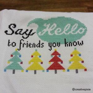 Christmas cross stitch update