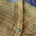 creative pixie crochet cardigan buttons v neck