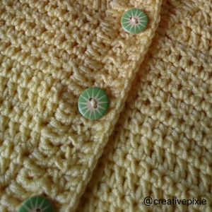 creative pixie crochet cardigan buttons
