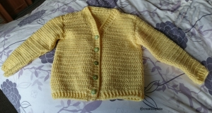 creative pixie crochet cardigan finished