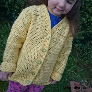 creative pixie crochet cardigan Miss E