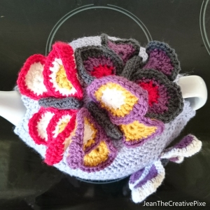 Creative Pixie butterfly cosy top view