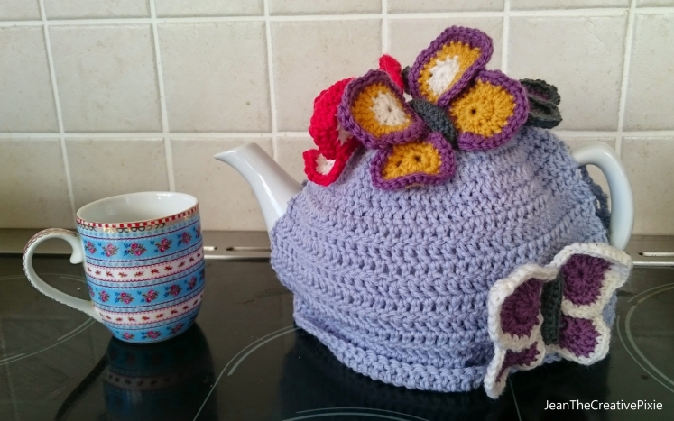 Creative Pixie butterfly cosy