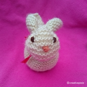 creative pixie knitted Easter bunny face