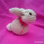 creative pixie knitted Easter bunny