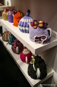Knitters cosies at the exhibition 2
