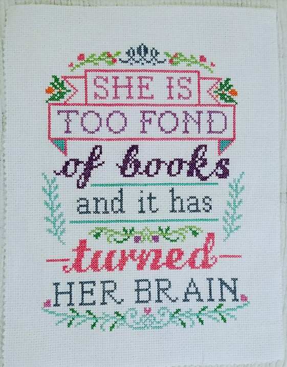 the Creative Pixie she is too fond of books and it has turned her brain